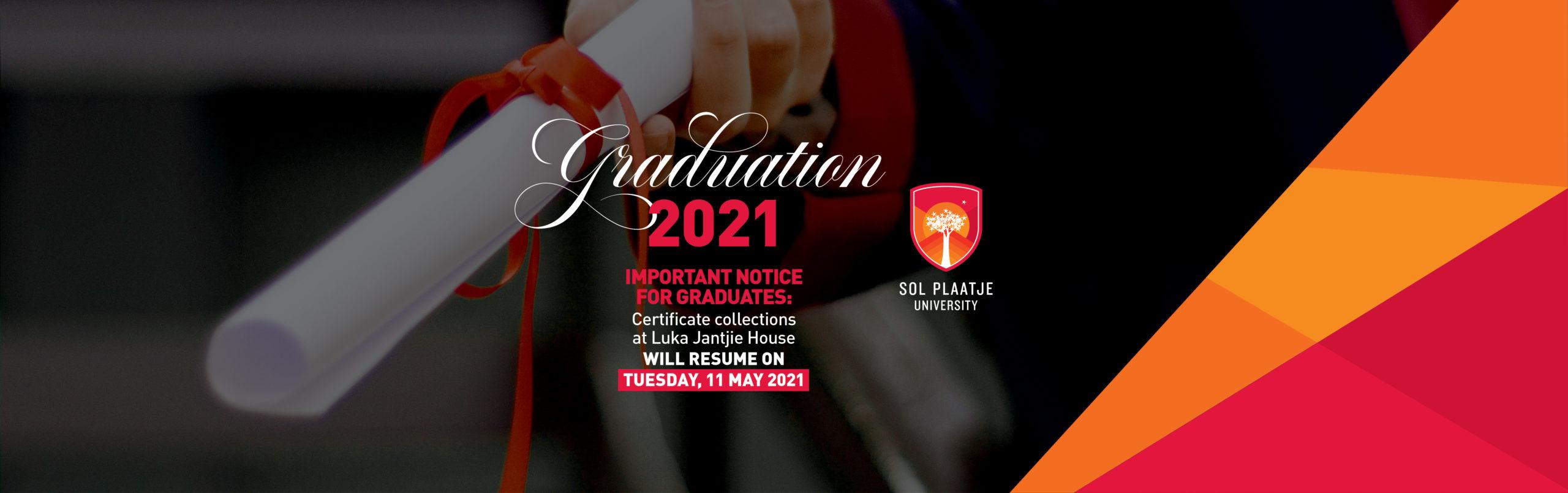 Important notice for graduands