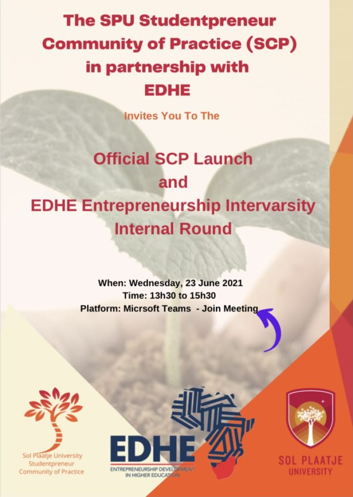 EDHE Intervarsity Internal Round and Official SCP Launch poster